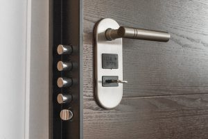 Door with access control system