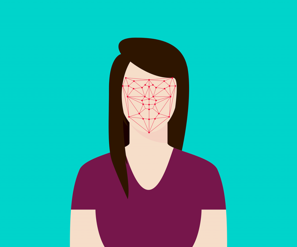Grid example of face scanning system
