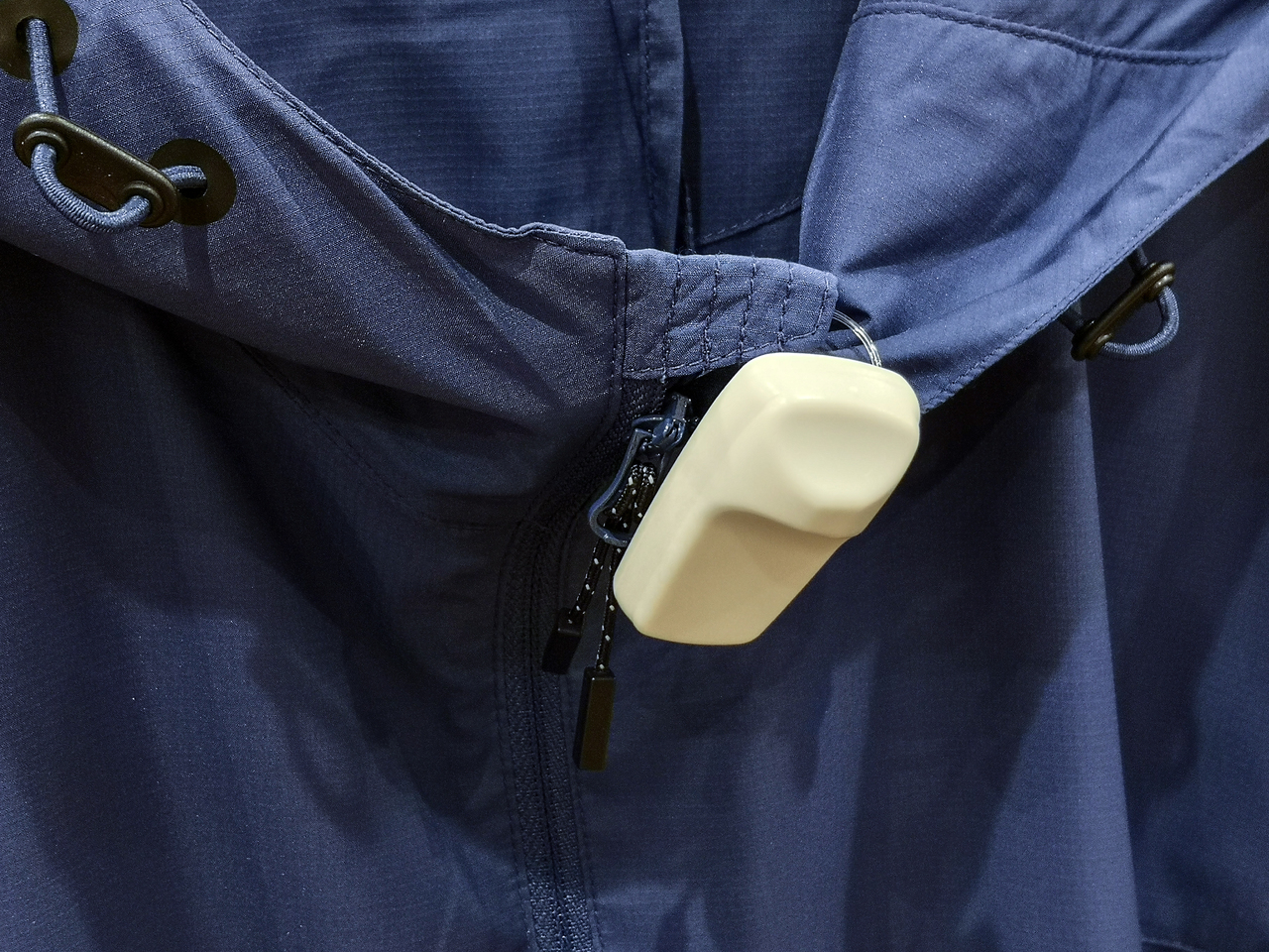 An RFID tag on a pair of pants