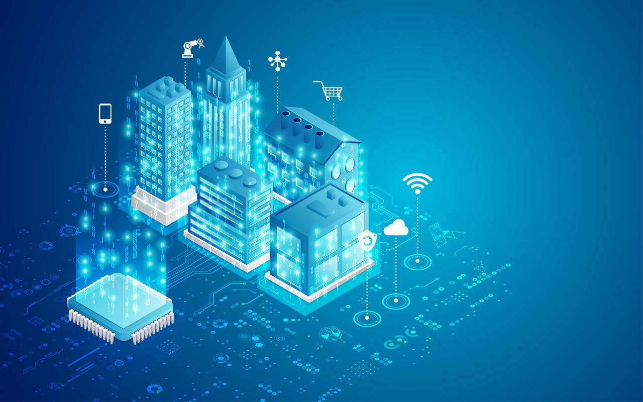 Graphics of smart buildings