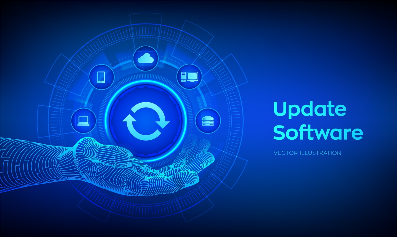 Graphics of updating software