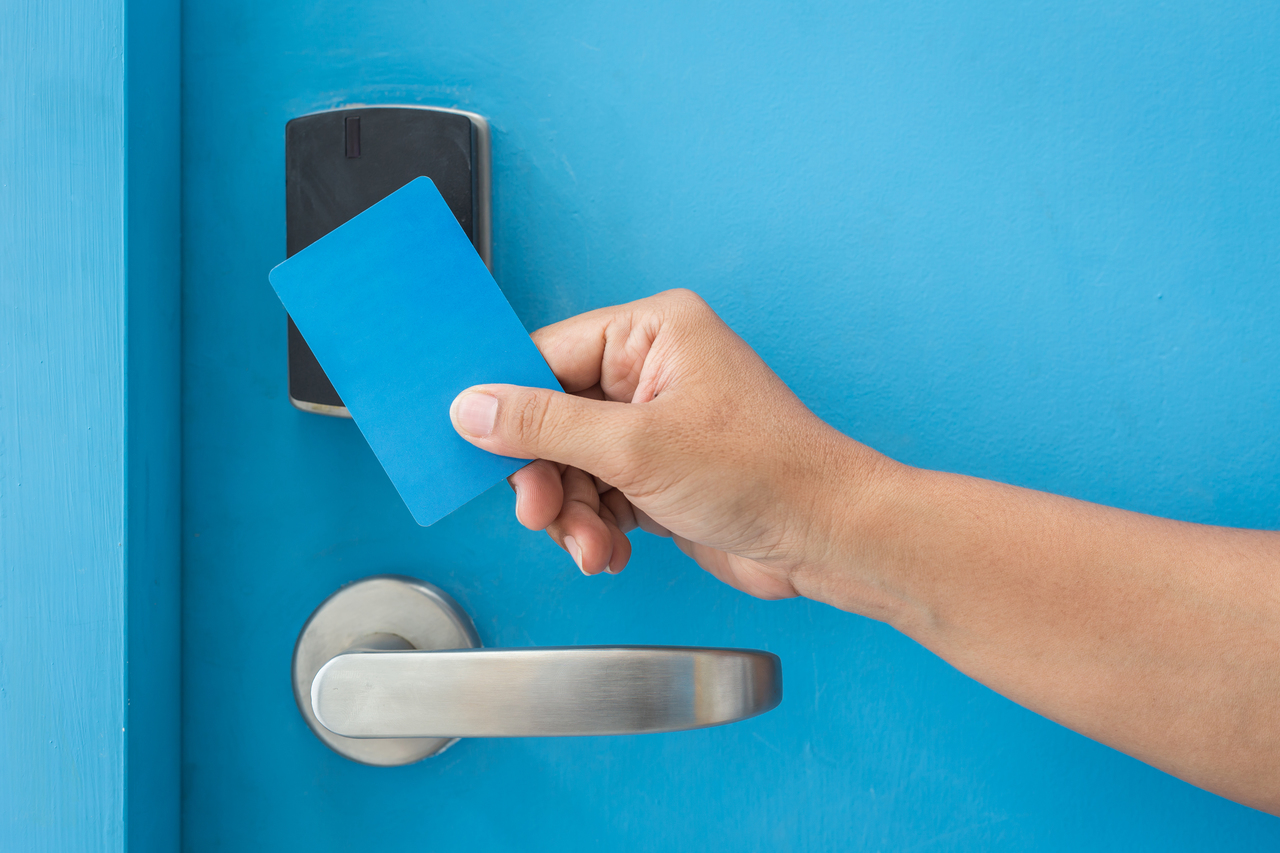 A key card access control system