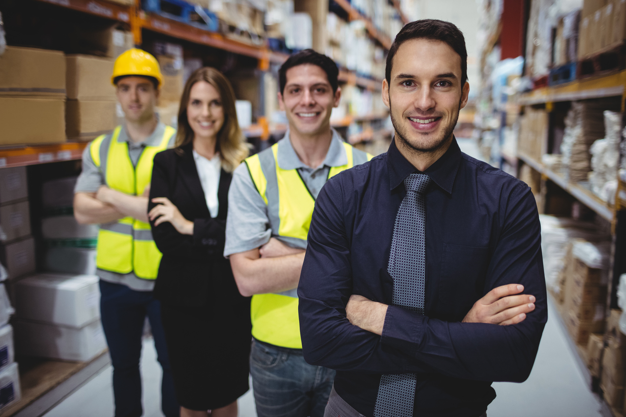 Warehouse managers and workers