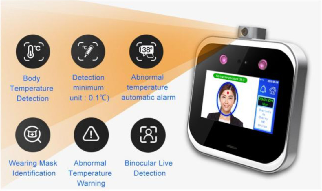 Measures Temperature Even With Masks
