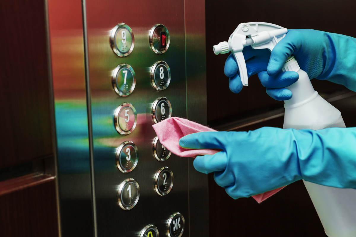 Regularly Disinfect Your Elevators